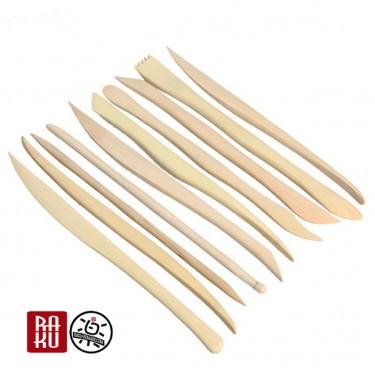 Ebauchoirs de poterie outils de précision en bois lot de 5